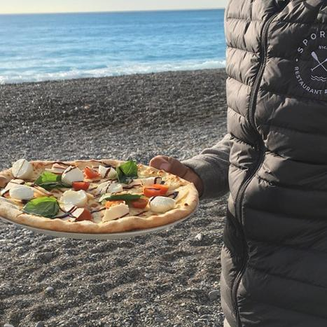 Carte de notre restaurant plage à Nice, face à La Promenade des Anglais